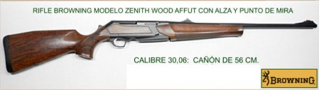 RIFLE BROWNING ZENITH WOOD AFFUT